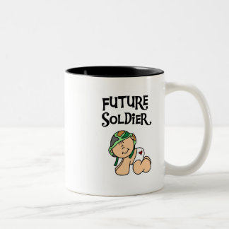 Baby Future Soldier T-shirts and Gifts Two-Tone Coffee Mug
