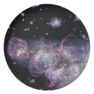 Baby galaxy dinner plate