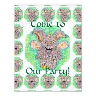 Baby Gargoyle Children's Party Card
