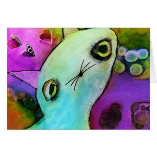 Baby Gato™ Cute Sad Glitter Eye Kitten Card