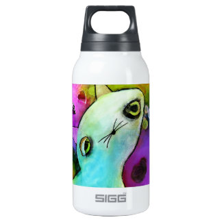 Baby Gato™ Cute Sad Glitter Eye Kitten Insulated Water Bottle