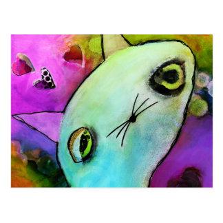Baby Gato™ Cute Sad Glitter Eye Kitten Postcard