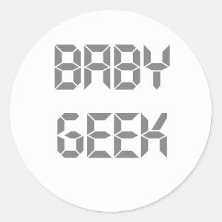 Baby Geek Classic Round Sticker