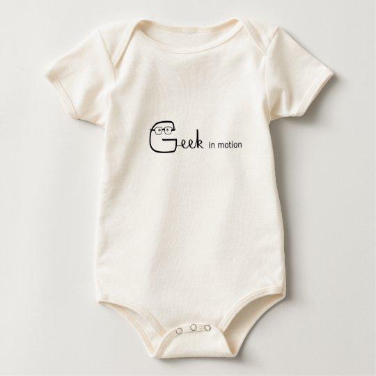 Baby Geek in motion Baby Bodysuit