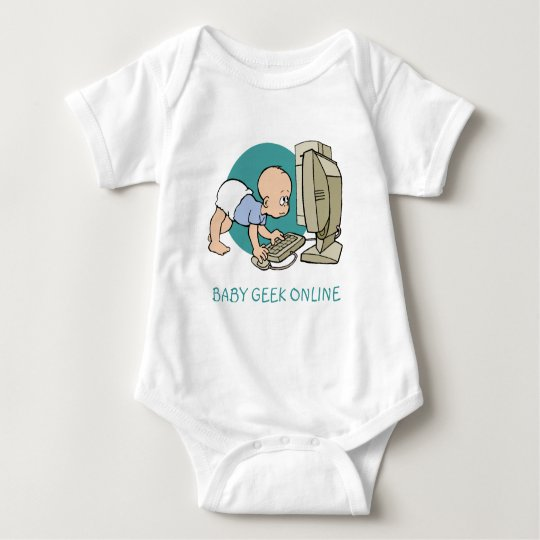 BABY GEEK ONLINE T SHIRT AND