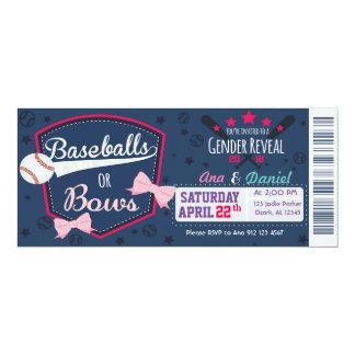 Baby gender reveal - Baseballs or Bows Card