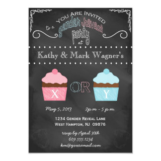 Baby Gender Reveal Invitation in Chalkboard