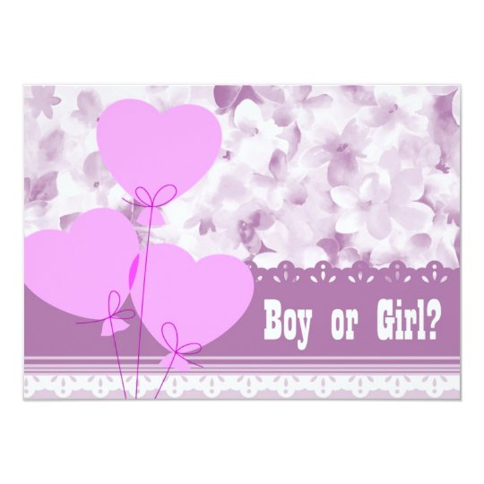 Baby Gender Reveal Party 2 Card