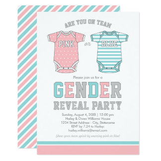 Baby Gender Reveal Party Invitation | Pink or Blue