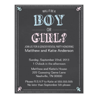 Baby Gender Reveal Party Invitations