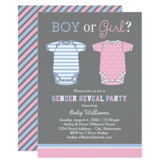 baby reveal party invitations & announcements | zazzle, Party invitations