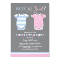 Baby Gender Reveal Party Invitations | Boy or Girl