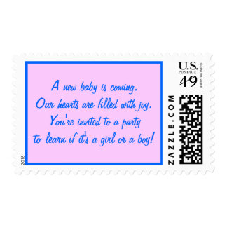 Baby Gender Reveal Party Postage