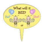 Baby Gender Reveal What Will it BEE? Honey Bees Cake Pick