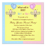 Baby Gender Reveal What Will it BEE? Honey Bees Personalized Invitation