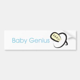 Baby Genius (blue) Bumper Sticker
