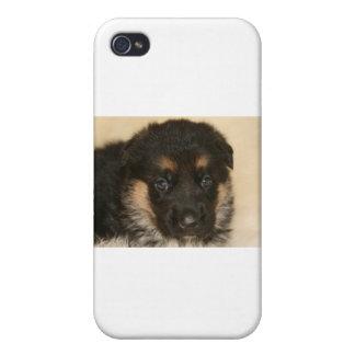 "Baby German Shepherd Puppy ""Khloe"" Case For iPhone 4"