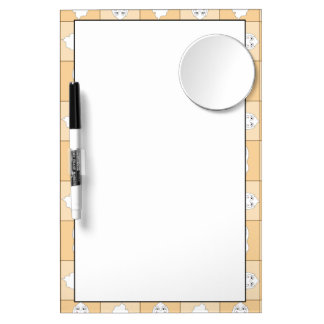 Baby Ghost Playing Pattern Dry Erase Boards