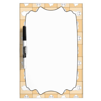 Baby Ghost Playing Pattern Dry-Erase Whiteboards