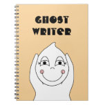 Baby Ghost Playing Spiral Notebook
