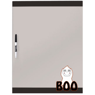 Baby Ghost Playing With Boo Saying Dry Erase Boards