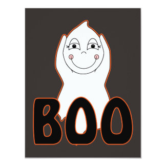 Baby Ghost Playing With Boo Saying 4.25x5.5 Paper Invitation Card