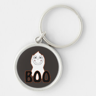 Baby Ghost Playing With Boo Saying Key Chain