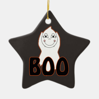 Baby Ghost Playing With Boo Saying Ornament