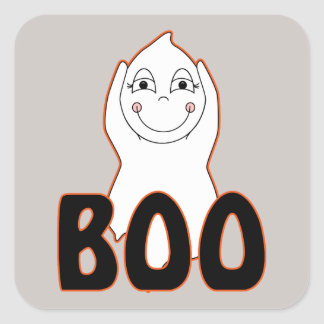 Baby Ghost Playing With Boo Saying Sticker