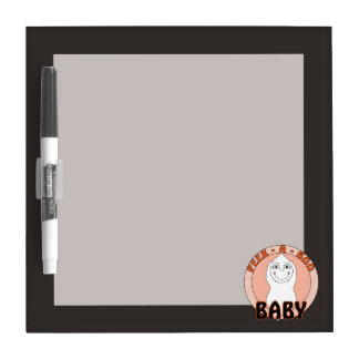 Baby Ghost Playing With Peek A Boo Saying Dry-Erase Boards