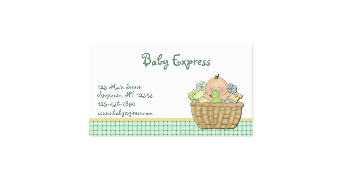 Baby Gift Basket Business : Baby gift basket business card zazzle