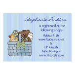 Baby Gift Basket Registry Cards Business Card Templates