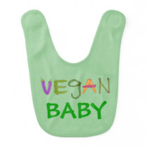 Baby Gift for Vegan Expecting Mother Vegan Baby Baby Bib