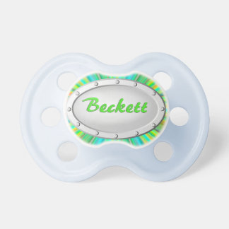 Baby Gift, Manly Metal! Add HIS Name! Pacifier