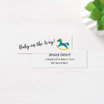 Baby Gift Registry w/ Rocking Horse Handout Cards