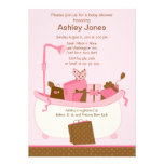 Baby Gifts Tub Girl Baby Shower Invitation