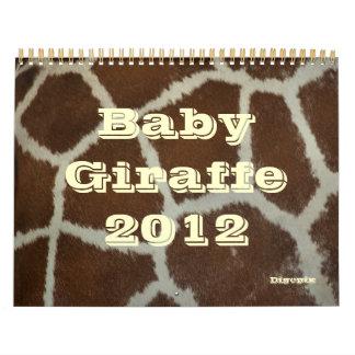 Baby Giraffe 2012 Wall Calendars