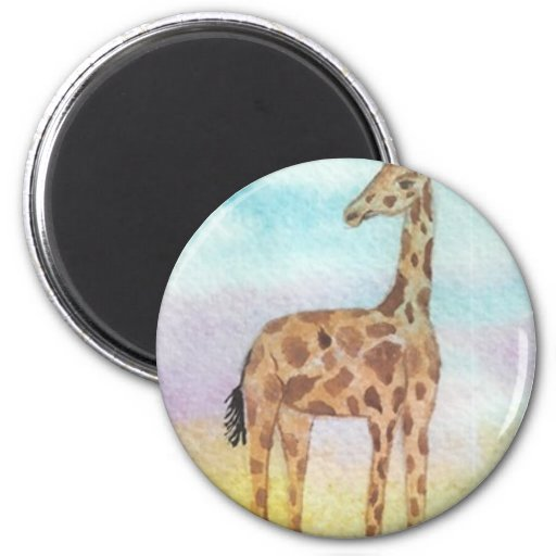 Baby Giraffe 2 Inch Round Magnet