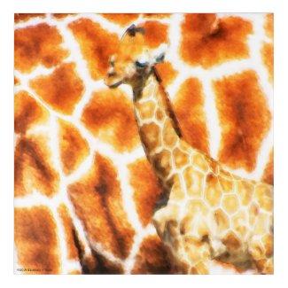 Baby Giraffe Acrylic Wall Art