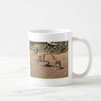 Baby Giraffe and Giraffe Family Coffee Mug