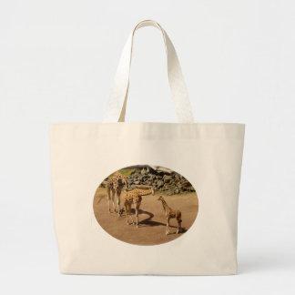 Baby Giraffe and Giraffe Family Jumbo Tote Bag
