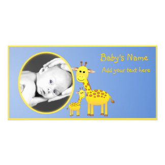 Baby Giraffe Announcement
