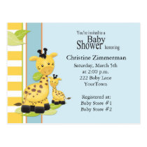 Baby Giraffe Baby Shower Invitation Postcard