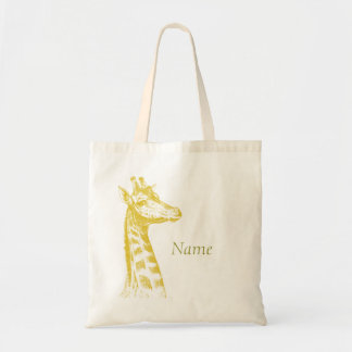 Baby Giraffe Canvas Bags