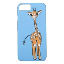 Baby Giraffe - blue iPhone 8/7 Case