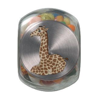 Baby Giraffe Glass Jar