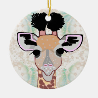 Baby Giraffe Ceramic Ornament