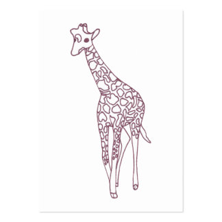 Baby Giraffe Coloring Business Cards
