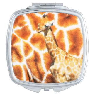 Baby Giraffe Compact Mirror