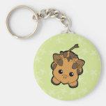 Baby Giraffe Cutie Basic Round Button Keychain